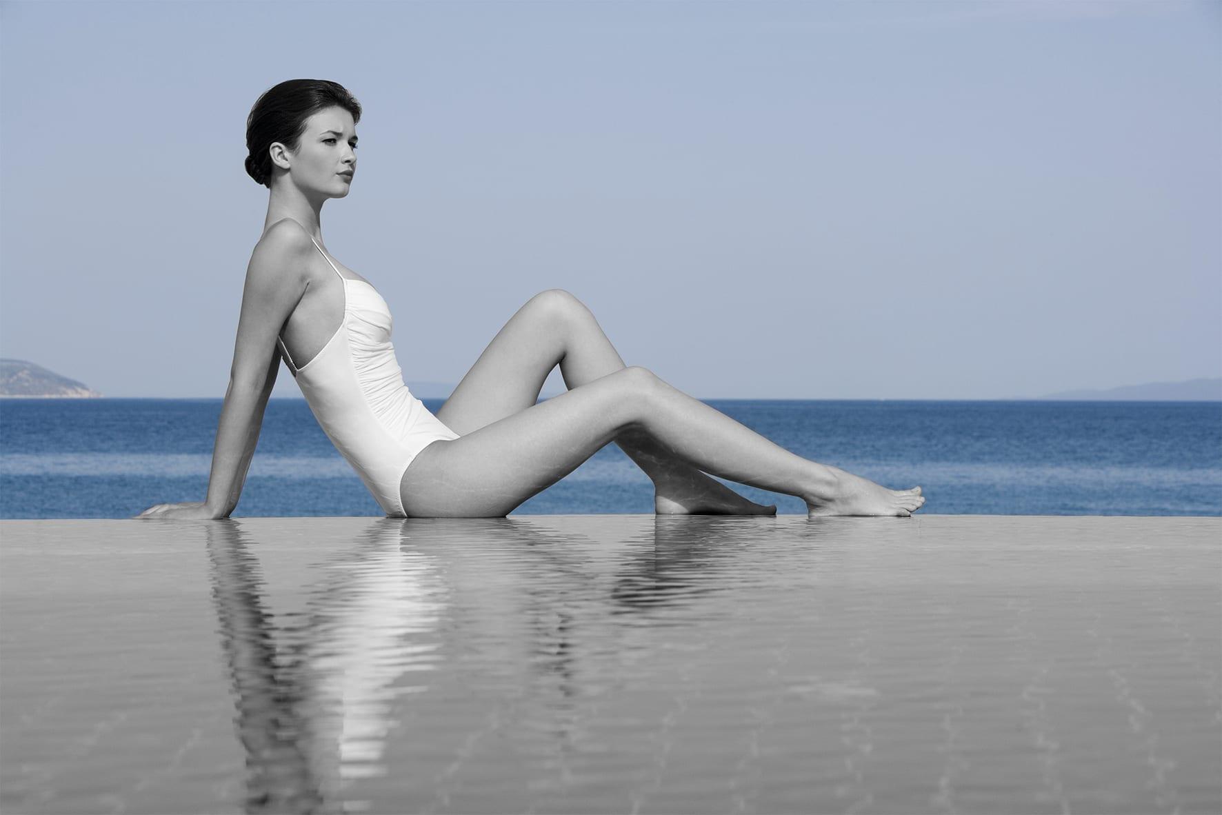 femme Escale Aquatique Relaxante